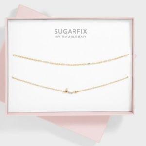 NWOT BaubleBar Sugarfix Gold Double Chain Choker